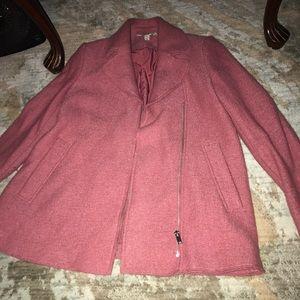 Zara wool coat in pink